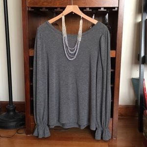 GAP gray tunic top